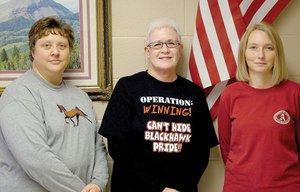 Pea Ridge High School media specialists/DL facilitators Misty Harris, Margaret Cheek and Nancy Myers.