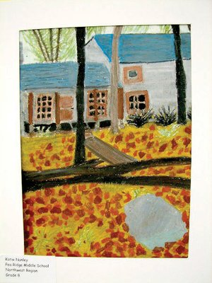Art Winner - Fall Day by eighth-grader Katie Nunley, second place