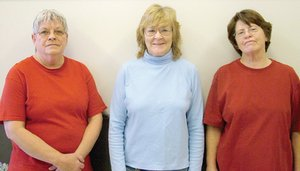 Pea Ridge Primary School custodians Bonnie Tyler, Patsy McAllister and Sandra Weatherford..