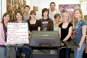 "Pea Ridge High School AP Biology students organized a raffle for this grill, donated by Lowe's, as a fundraiser for the ""Trip of a Lifetime"" to South Dakota this May."