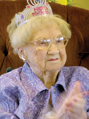 Virginia A. Leach Kelly Wylie, 99, was feted by family and friends Saturday at her 99th birthday party. Five generations were present. A photograph of Mrs. Wylie with her children, grandchildren, great-grandchildren and great-great-grandson is on page 6A of this week's edition of The TIMES.