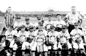 Junior Webb, back row, right, was crucial in the development of Little League baseball in Pea Ridge. His son, Rick Webb, is the youngest boy pictured center in this 1958 or '59 photograph. Dean Messer is standing at the back left.