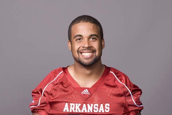 Arkansas Razorbacks' Tight end D.J. Williams.