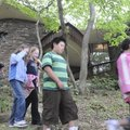 Students from Centerton Gamble Elementary School tour the grounds Friday of the Applegate House in ...