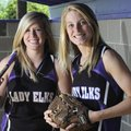 Elkins' Kayleigh Harriman, left, and Holly Dingledine. Are the last two players with ties to the Lad...
