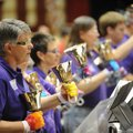 SPRING RING - Fenner Russell and other members of the handbell choir from Central United Methodist C...
