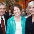 Quality of Life honoree Dan and Patsy Ferritor, from left, and Lynn Donald Carver enjoy the NWACC Fo...