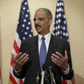 Attorney General Eric Holder responds to reporters' questions about the investigation into the Times...
