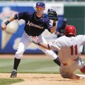 Northwest Arkansas' Chris McConnell waits for the throw at second base to force out Springfield's Co...