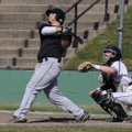 Bentonville's Matt Russell watches his solo home run during the first inning of Thursday's doublehea...