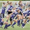 Fayetteville players run onto the field after defeating Bentonville in the Class 7A State Soccer Ch...