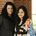 Sarah Pursley, left, and her daughter, Jasmine Akhtar, stand for a portrait Tuesday at Har-Ber High...