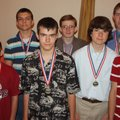 Youth Excellence Award winners include Ryan Holcomb, front row, from left, Grayson Hill, P.J. Turne...