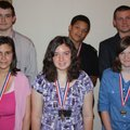 Youth Excellence Award winners gather for a photo at the luncheon in their honor Tuesday. They are,...