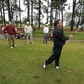Washington County Sheriff Tim Helder watches his tee shot Monday on the 17th hole at Fayetteville Co...