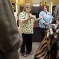 Northwest Arkansas Community College nursing education director Elaine Holloway (center) discusses ...