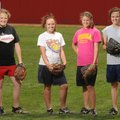 Farmington pitchers, from left, Madison Barnes, Haleigh Ball, Summer Chavis and Whitney Sneed provid...