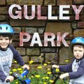 Gideon Florida, 6, left, of Fayetteville will be joined Sunday by his 4-year-old brother, Orion, in ...