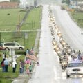 The funeral procession for Lance Cpl. Richard Penny, 21, who was killed May 6 in Helmand Province of...
