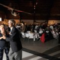 Pat and Don Koenig dance during the May 2009 Troop Train USO Canteen Dance at the Fayetteville Air M...