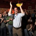 Greg Leding, democratic candidate for House District 92, celebrates his win in the primary election ...