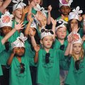 "Kindergarten students at Central Park Elementary School in Bentonville perform the musical play ""Bug..."