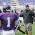 Fayetteville offensive coordinator Zak Clark instructs players on Wednesday.