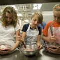 Bridget Bloye, right, Emilie Layman and Cheyenne Bright, seventh-graders from Hellstern Middle Schoo...