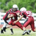 Springdale High's Jesus Centino, left, runs with the ball as Cristian Rivas, right, defends during ...