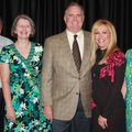 Life Source Executive Director Ernie and Terry Conduff, from left, welcome Sean and Leigh Ann Tuohy ...