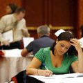 Katie Hatch of Springdale fills out job applications on Monday, May 24, 2010, inside the John Q. Ham...