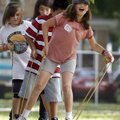 Tillery Elementary School fifth-grader Olivia Kennedy, 10, (front) works with classmates Thursday at...