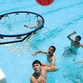 Jeremy Howard, 13, waits for the rebound Saturday during a basketball game at Prairie Grove Aquatic...