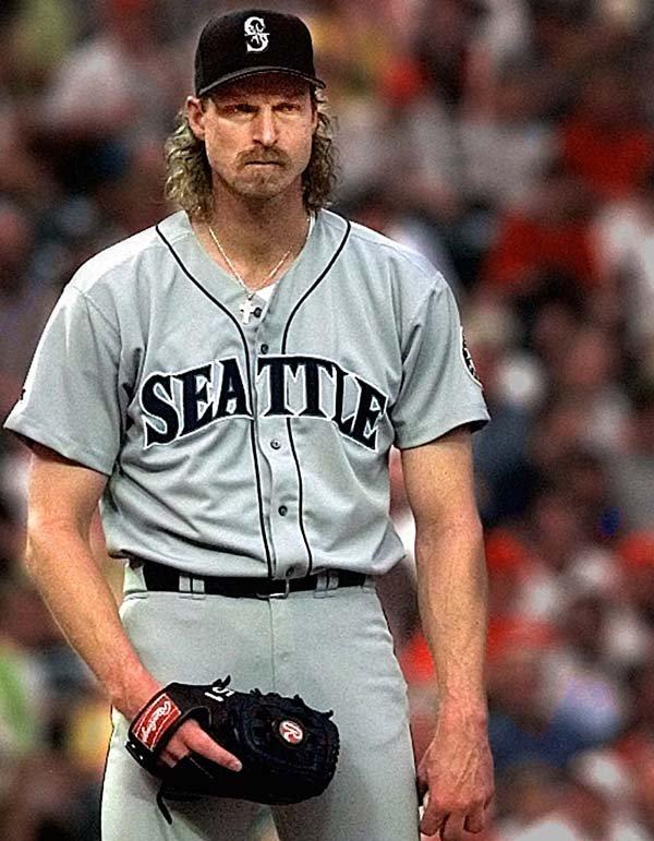 file seattle mariners pitcher randy johnson looks