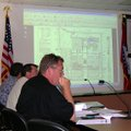 Tracy Hoskins, a member of the Fayetteville Planning Commission, listens Thursday to discussion abou...