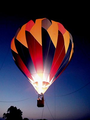 Country Eagle, Inc., of Centerton, provided hot-air balloon rides on Friday and Saturday evenings.