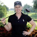 Morgan Pressel, seen Monday at Pinnacle Country Club in Rogers, will be one of the top competitors i...