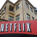 FILE - This Jan. 29, 2010 file photo, shows the company logo and view of Netflix headquarters in Los...