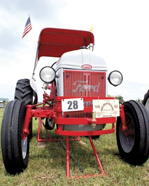 Tractors are lining up at the show grounds of the Tired Iron of the Ozarks antique engine and tractor show scheduled for this weekend. The show features tractors, engines, farm equipment, a blacksmith shop, saw mill and other equipment used in years gone by.