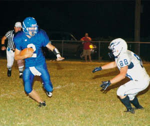 Decatur's Blake Wilkins ran the ball during Friday's game against Conway Christian. Wilkins scored a touchdown on a 30 yard run during the first quarter.