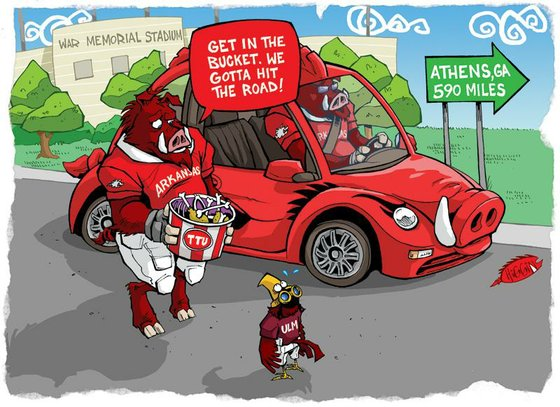 Galerry wholehogsports razorback game day cartoons 2010