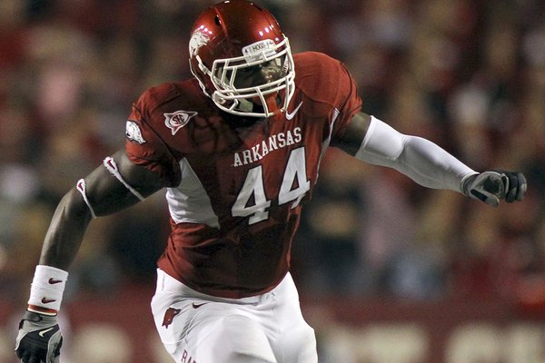 Arkansas' Van Stumon has played several positions — on both sides of the ball — during his five years with the Razorbacks, but as a blocking fullback he's an integral part of the offense.