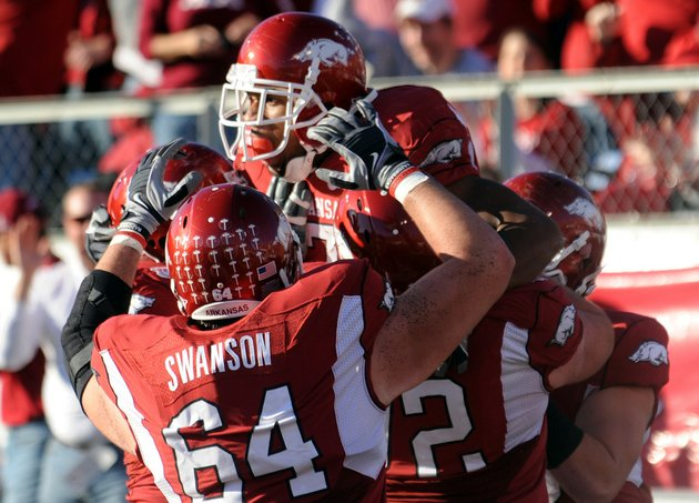 knile-davis-top-center-celebrates-the-razorbacks-first-touchdown-against-lsu-during-the-game-saturday-at-war-memorial-stadium-in-little-rock
