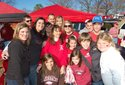 Hog fans tailgate at War Memorial Stadium