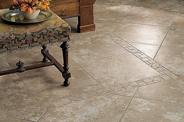 Ceramic Tiles Come In Sizes Ranging From Tiny Mosaic To 12 And 18 Inch Squares Can Mimic The Pattern Of Natural Stone