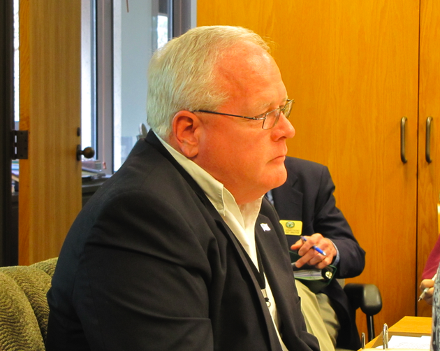 arkansas-game-and-fish-interim-director-loren-hitchcock-looks-on-during-a-personnel-meeting-wednesday-shortly-after-being-recommended-to-lead-the-agency-on-a-more-permanent-basis