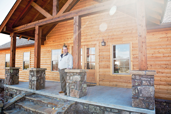 James Loy, director of Renewal Ranch in Conway, stands on