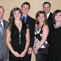 Nicole and David Trudo enjoy the Angel Gala on Feb. 12 with Lindsay Boone, from left, Tyler Trudo, G...