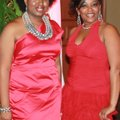 Crimson and Cream Couture co-chairwomen Macadda Peoples, left, and LaTarsha Alsup welcome guests to ...