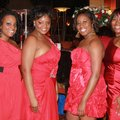 Crimson and Cream Couture committee members Yvonne Nichols, from left, Tina Young, Amber Williams an...